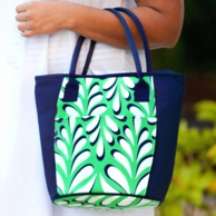 Island Palm Monogrammed Cooler Tote