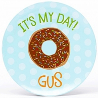 It's My Day Chocolate Donut Personalized Plate