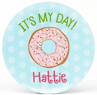 It's My Day Strawberry Donut Personalized Plate
