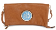 Jackie Monogrammed Fold Over Clutch