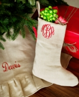 Juco Natural Personalized Christmas Stocking