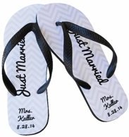 Just Married Personalized Flip Flops