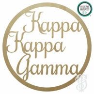 Kappa Kappa Gamma Greek Wood Wall Sign