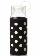 Kate Spade New York Black & White Polka Water Bottle
