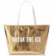 Kate Spade New York Break The Ice Gold Cooler Tote