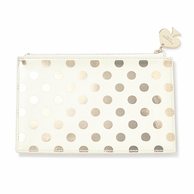 Kate Spade New York Pencil Pouch with Pencils - Gold Dots