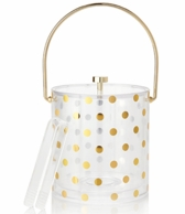 Kate Spade New York Raise A Glass Gold Dotted Ice Bucket