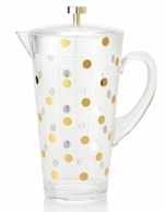 Kate Spade New York Raise A Glass Gold Dotted Pitcher