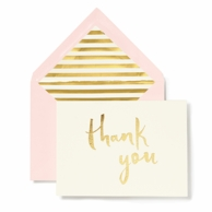 Kate Spade New York Thank You Cards - Blush with Gold