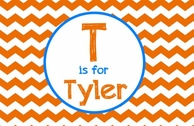 Kids Chevron Personalized Placemat