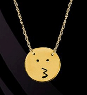 Kiss Emo Emoji Necklace