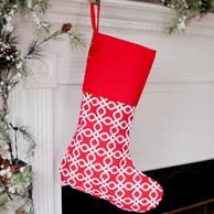 Kringle Monogrammed Christmas Stocking