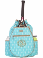 Lagoon Monogrammed Tennis Backpack