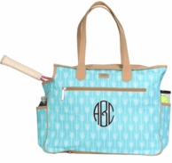 Lagoon Monogrammed Tennis Court Bag