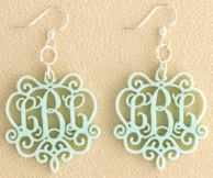 Laura Chandelier Acrylic Monogram Earrings