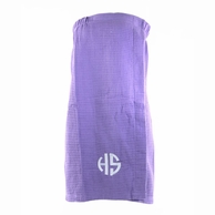 Lavender Monogrammed Waffle Weave Spa Wrap