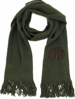 Leaf Green Soft As A Sweater Monogrammed Scarf