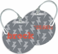 Lightening Personalized Bag Tags - SET OF 2 - CHOOSE YOUR DESIGN