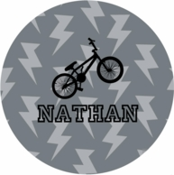 Lightening Personalized Kids Plate - CHOOSE YOUR DESIGN!