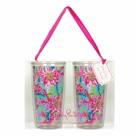 Lilly Pulitzer Trippin and Sippin Insulated Tumblers - SET OF 2!