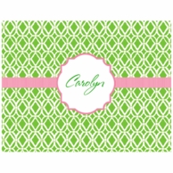 Lilly Pulitzer Bamboo Green Personalized Fold Over Note Cards