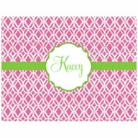 Lilly Pulitzer Bamboo Pink Personalized Fold Over Note Cards