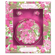 Lilly Pulitzer Beach Rose Earbuds and Pouch
