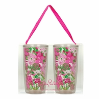 Lilly Pulitzer Beach Rose Insulated Tumblers - SET OF 2