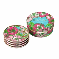 Lilly Pulitzer Big Flirt Ceramic Coasters - SET OF 4