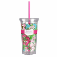 Lilly Pulitzer Big Flirt Print Drink Tumbler with Straw