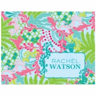 Lilly Pulitzer Checking In Personalized Fold Over Note Cards