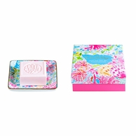 Lilly Pulitzer Coral Cay Soap & Tray Gift Set