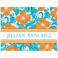 Lilly Pulitzer Do The Wave Personalized Fold Over Note Cards
