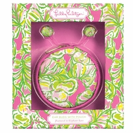 Lilly Pulitzer Elephant Ears Earbuds and Pouch Set