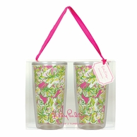 Lilly Pulitzer Elephant Ears Insulated Tumblers - SET OF 2