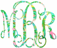 Lilly Pulitzer Elephant Ears Monogram Decal