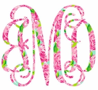 Lilly Pulitzer First Impressions Car Monogram Decal - CHOOSE YOUR FONT