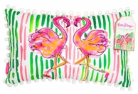 Lilly Pulitzer Flamingo Medium Lumbar Throw Pillow