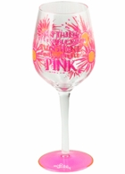 Lilly Pulitzer Hand Painted Anything Is Possible Wine Glass