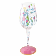 Lilly Pulitzer Hand Painted Dance On The Table Wine Glass
