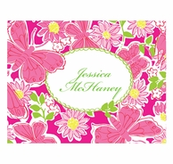 Lilly Pulitzer Hidden Garden Personalized Fold Over Note Cards