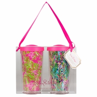 Lilly Pulitzer Hot Spot / Jungle Tumble Insulated Tumblers with Lids - SET OF 2