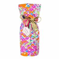 Lilly Pulitzer I'm So Hooked Wine Tote Gift Bag