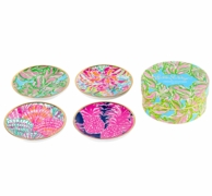 Lilly Pulitzer In The Bungalows Ceramic Coaster Set