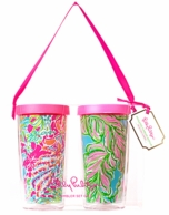Lilly Pulitzer In The Bungalows Insulated Tumbler SET OF 2