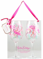 Lilly Pulitzer Jellies Be Jammin Acrylic Wine Glasses