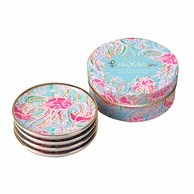 Lilly Pulitzer Jellies Be Jammin Ceramic Coasters - SET OF 4