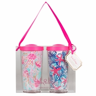 Lilly Pulitzer Jellies Be Jammin / She She Shells Insulated Tumbler with Lids - SET OF 2