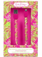 Lilly Pulitzer Jungle Tumble USB Lightening Charger Cord