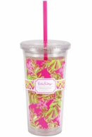 Lilly Pulitzer Jungle Tumbler Insulated Straw Tumbler